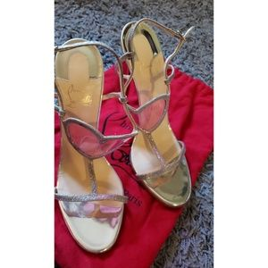 Preowned Christian Louboutin heart sandals